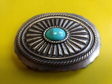 "Collectible Turquoise? Stone Design Belt Buckle 3 1/8"" x 2 1/2"""