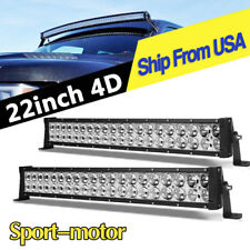 2X 22inch 280W 4D LED Light Bar Spot Flood Combo Offroad Jeep Truck 4WD ATV 24""