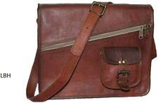 Men's Genuine Leather Messenger Shoulder Bag  Macbook Laptop Case Brown Tote
