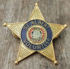 1990 EDMONTON Police & Fire International LAW ENFORCEMENT GAMES Volunteer Badge