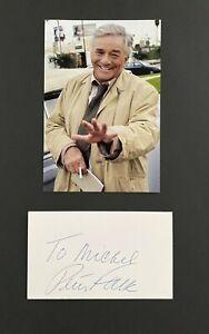 Peter Falk authentic signed, Photo mit Autograph Top 20x30 Autogramm Card signed