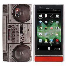 Hardcase für Sony xperia P / Lt22i Retro Kassetten Rekorder Case Hülle Cover