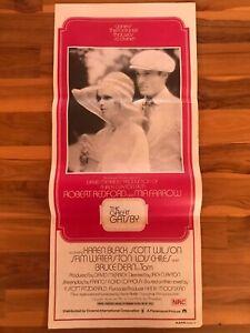 Original Movie Poster 13x30: The Great Gatsby (1974) Robert Redford, Mia Farrow