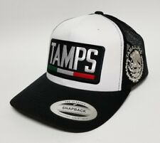 Tamaulipas Mexico Hat Mesh Trucker White Black Snap Back Adjust New 2Logos