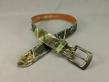 Nocona Leather Belt Camouflage Camo Hunting Fishing N44150222 Brown Green 26