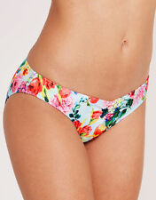 Seafolly Summer Garden Hipster Bikini Brief Yellow Green Blue Floral Size 8 NEW