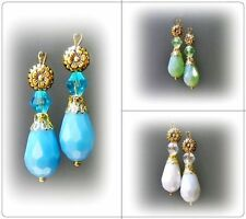 Glass Alloy Clip - On Handcrafted Earrings