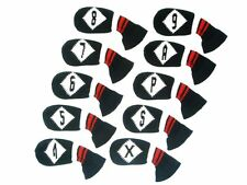 HugeLoong Knit Golf 10Piece Iron Head Cover SetBlack/White