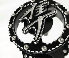Hayabusa Black & Silver Ball Cut 3D Raised Logo Clear See Through Stator Cover!!