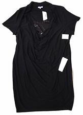 Fashion Bug Dress Black Sequins Draped Short Mini Sexy Women's Plus Size 24 NEW