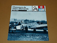 CHASSEURS DE CHARS 1939-1945 H-129 LUFTWAFFE AVIATION FICHE WW2 39-45