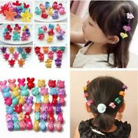 10pcs Assorted Lovely Plastic Baby Hair Clips Clamp Girls Hairpins Mini Claw