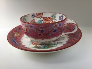 Antique 1800s Minton Chinoiserie Breakfast Tea Cup and Saucer-Pattern B527