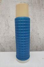 alte Thermoskanne Kaffeekanne Isolierkanne retro vintage DDR Camping blau Plaste