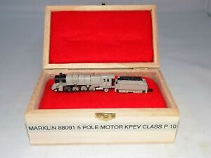 Z Scale Marklin 88091 KPEV 2811 Class P10 Gray Steam Loco & Tender -5 Pole Motor