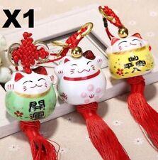 X1 Maneki Neko Lucky Fortune Cat Fengshui Pendant For Home Car Decoration