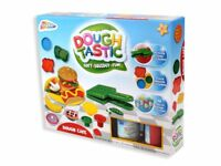 Dough Cafe Kids Childrens Play Dough Craft Gift Set Tubs And Shapes Toy Hobby