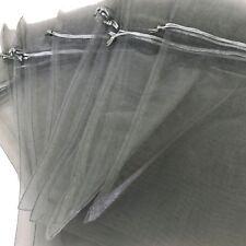 20 pcs Organza Gift Bags XL Drawstring Pouches Weddings Parties Silver Gold Crea