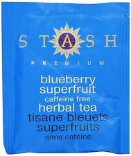 Stash Tea Blueberry Superfruit Herbal Tea, 100 Count Box of Tea Bags in Foil , N