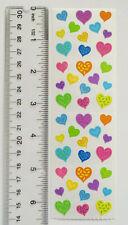 Mrs Grossman HAPPY HEARTS - 1 Strip Vintage Multi Size & Color of Design Hearts