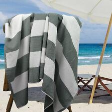 Ramesses Cotton Jacquard Beach Towel, Luxury Extra Large 180x100cm, Silver