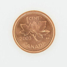 Canada 1 Cent Penny Collection - 2003 No P Old Effigy Canada 1 Cent - BU MINT