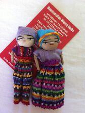GUATEMALAN WORRY DOLLS  FAIR TRADE BOY &  GIRL DOLL 8CM