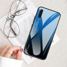 For Samsung Galaxy A50 A30 A20 A10 A6 A7 A8 PLUS Luxury Gradient Glass Case