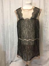 BCBG Maxazria Sheer Black And Nude Lace Dress. Medium.
