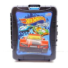 Hot Wheels Rollin' 110 Car Carrying Case Matchbox Storage Pull Handle Wheels