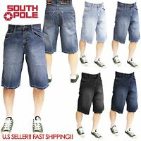 SOUTHPOLE Denim Jean SHORTS 4180-3236 Mens Relaxed Fit  Dark Sand Blue, BLACK