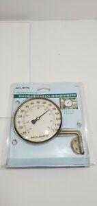Acurite 4 In. Dia. Metal Dial Indoor & Outdoor Thermometer 00334A2  Shelf C C2