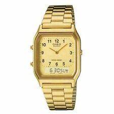 Casio AQ230GA-9B Men's Casual Classic Analog Digital Gold Watch Alarm Stopwatch
