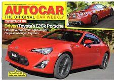TOYOTA GT86 primo Drive 2011-12 UK anteprima di mercato le vendite opuscolo Autocar