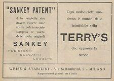 Z0668 Sella per moto Terry's - Ruota Sankey - Pubblicità del 1925 - Advertising