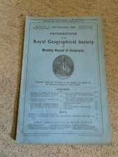 Proceedings of the Royal Geographical Society, Vol. VII., No. 9, September 1885