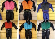 KIDS OVERALLS RACE RALLY KARTING QUAD SUITS ONE PIECE PLAY SUIT ORANGE & BLACK