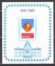 Yugoslavia1985 Sc1758 MiBlk27 1SS mnh  Socialist Federal Republic of Yugoslavia
