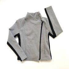 Vince Gray Moto Jacket Textured Full Zip Womens Size S