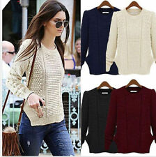 Women Long Sleeve Casual Knitwear Jumper Cardigan Coat Jacket Sweater Pullover