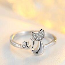 Cute Animal Cat Ring Women/Girls New Fashion Charm Cubic Zirconia Crystal Inlaid