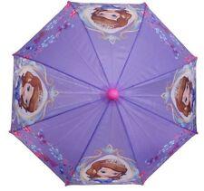 "Disney Junior Sofia the First 21"" Purple Umbrella w/Sofia Figurine Handle"