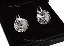 Sterling Silver Earrings Crystal (Clear) 12mm Rivoli Crystals from Swarovski®
