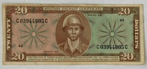 United States MPC $20 Military Payment Certificate Series 681