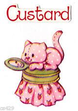 "2"" Strawberry shortcake custard cat vintage prepasted wall border cut out"