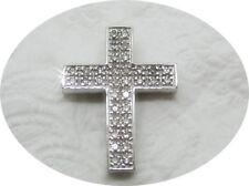 K103274 strahlender Kettenanhänger 585/14k Weißgold L.ca.20mm Diamanten Damen