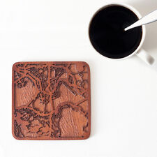 Hong Kong map coaster One piece wooden coaster Multiple city Ideal Gifts