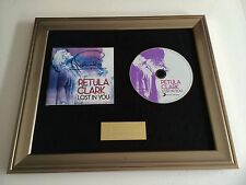 SIGNED/AUTOGRAPHED PETULA CLARK - LOST IN YOU FRAMED CD PRESENTATION. RARE