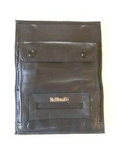 Soft Black Leather Cigarette Rolling Pouch Dr Plumb - 5525