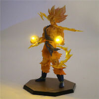 Dragon Ball Z Super Saiyan 2 Son Goku DIY LED Light Figure Collection Kid's Gift